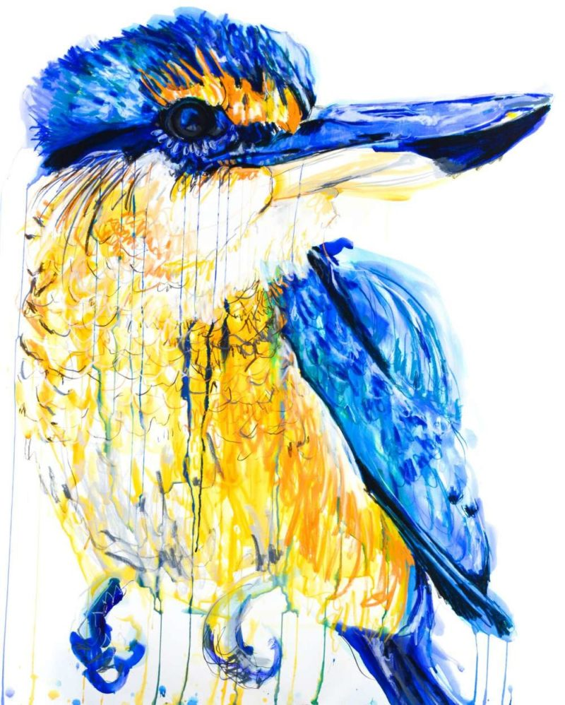 Meaghan Potter,  Sacred Kingfisher, 2017 Watercolour, ink and charcoal on paper