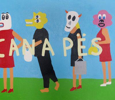 Nigel Sense Canapes, 2019 Acrylic on canvas 60 cm by 80 cm