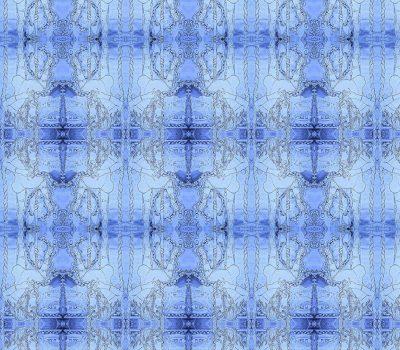 Carousel Horse Blue 1 Sample